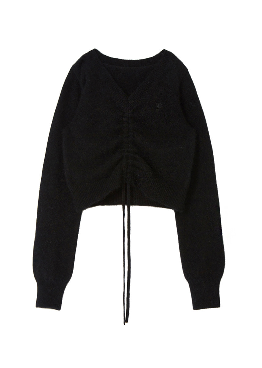 ANGORA STRING KNIT black