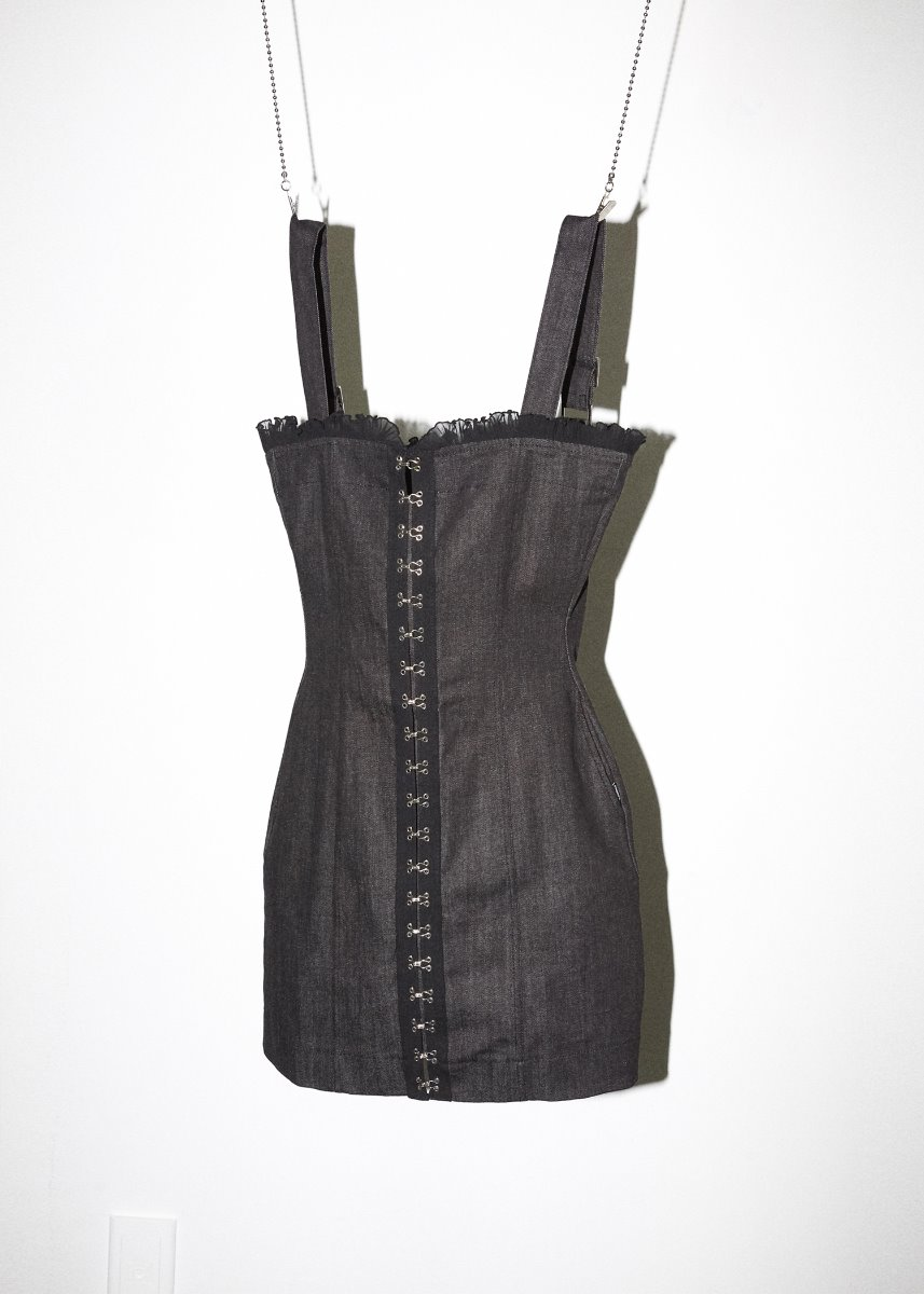 HOOK AND EYE ONEPIECE blackdenim