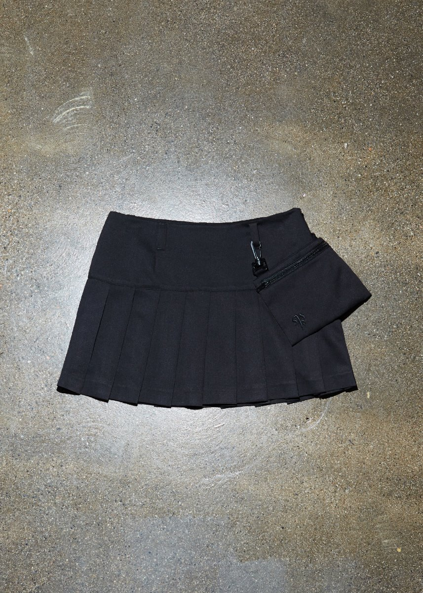 MINIBAG PLEATS SKIRT black