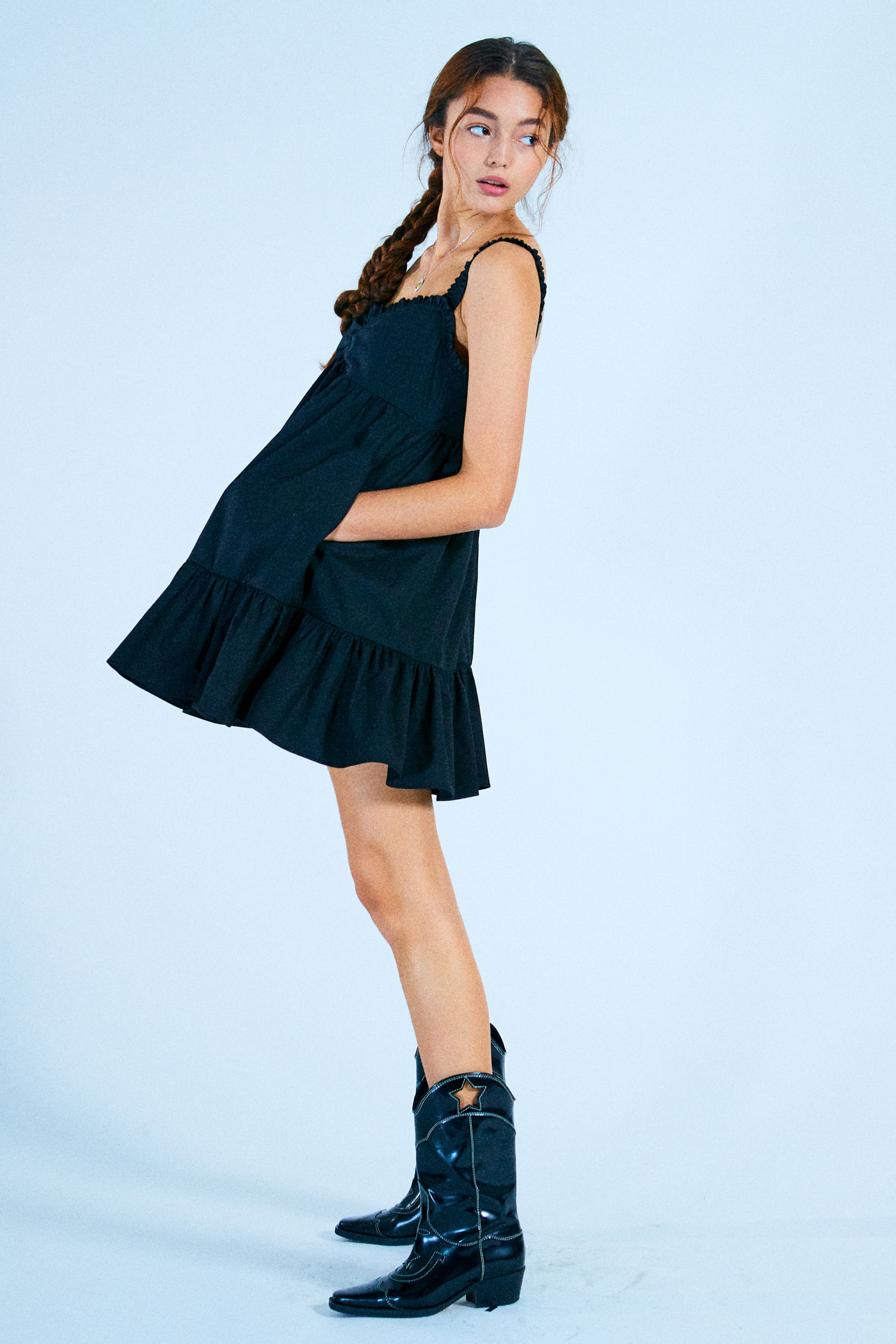 NANA DRESS_BLACK COTTON