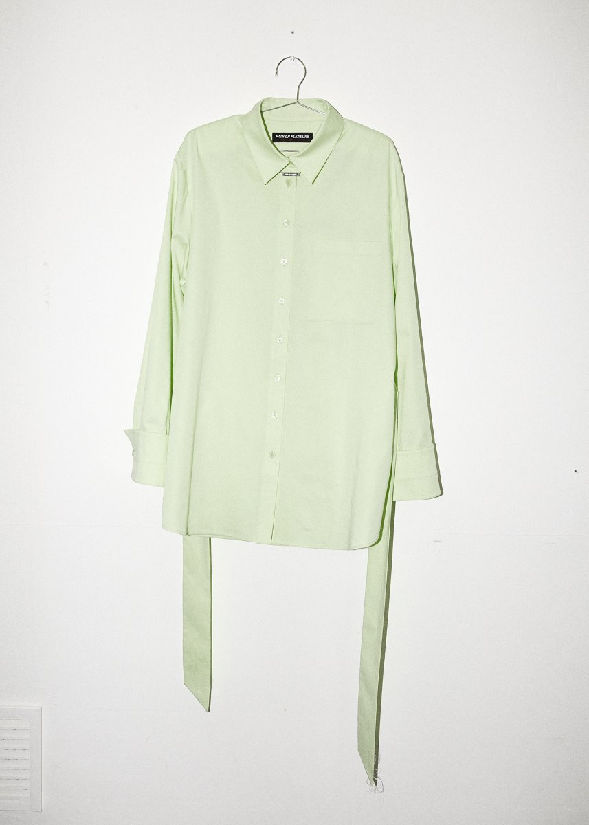 BELTED SHIRT light green