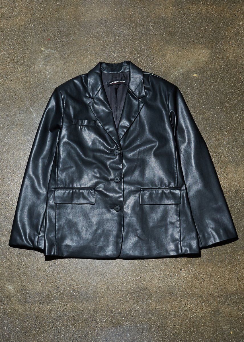 OVERSIZE LEATHER JACKET black
