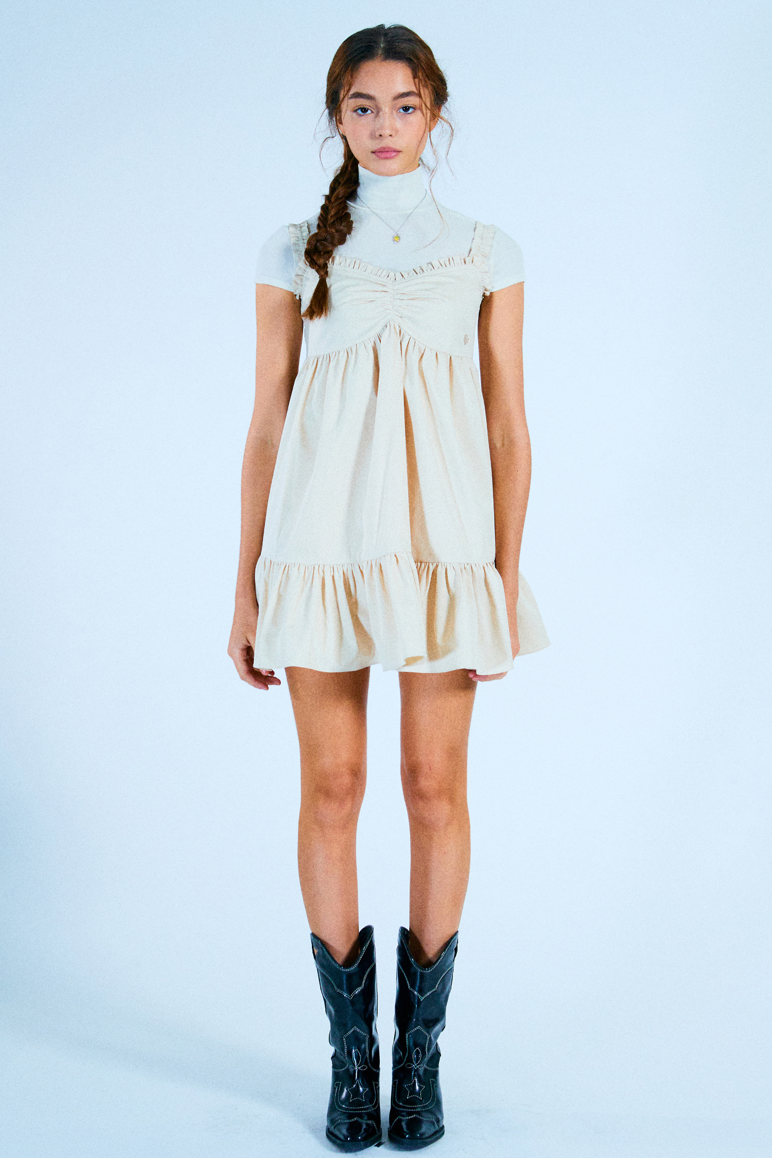 NANA DRESS_BEIGE COTTON[4월13일 순차배송]